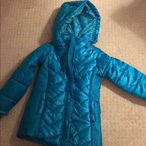 Girls, 6/7, teal puffer jacket